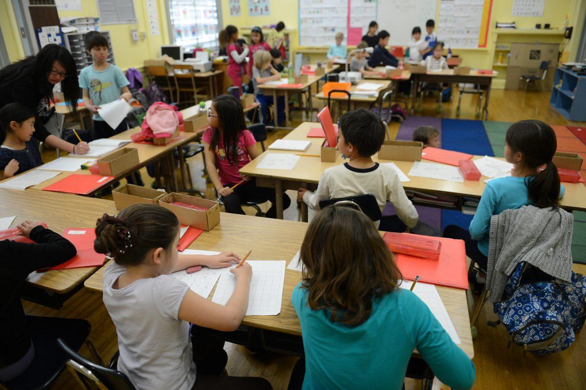 A classroom in Venice, California.