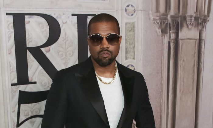 Kanye West attends the Ralph Lauren 50th Anniversary Event held at Bethesda Terrace in Central Park during New York Fashion Week in New York on Sept. 7, 2018. (Brent N. Clarke/Invision/AP, File)