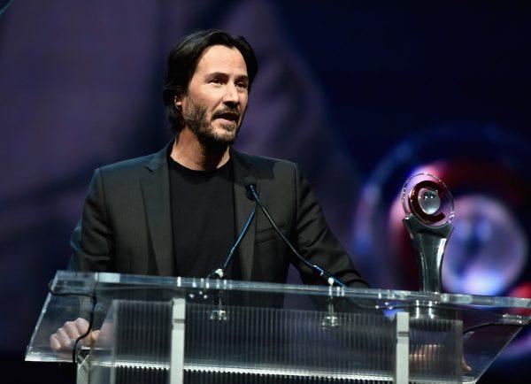 Keanu Reeves-Vangaurd award-cinemacon-las vegas