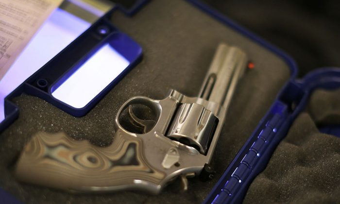 A handgun in its case in a file photo. (Joe Raedle/Getty Images)