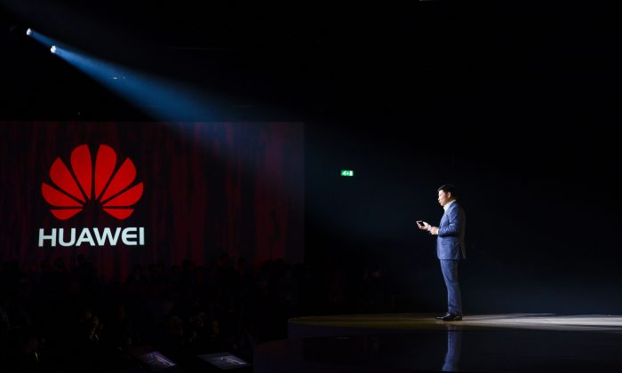 CEO of Consumer Business Group of Chinese tech company Huawei, Richard Yu, speaks in London on April 6, 2016. (Jack Taylor/AFP/Getty Images)