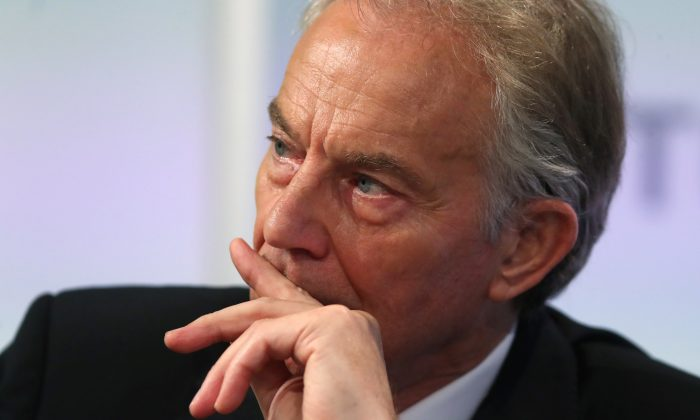 Britain's former Prime Minister Tony Blair attends an event at Thomson Reuters in London, Britain, October 11, 2018. (Reuters/Simon Dawson/File Photo)
