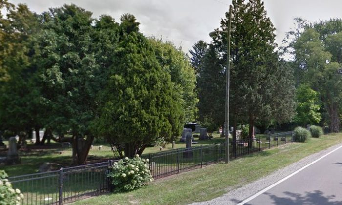A photo shows a cemetery in Warren, Michigan. (Google Street View)