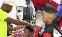 Kindhearted barber gives free haircuts and school supplies to 100 kids