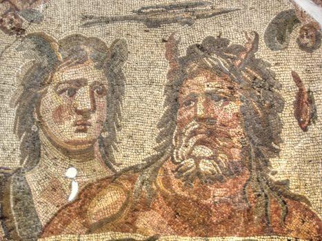 A third century mosaic depicting Tethys and Oceanus