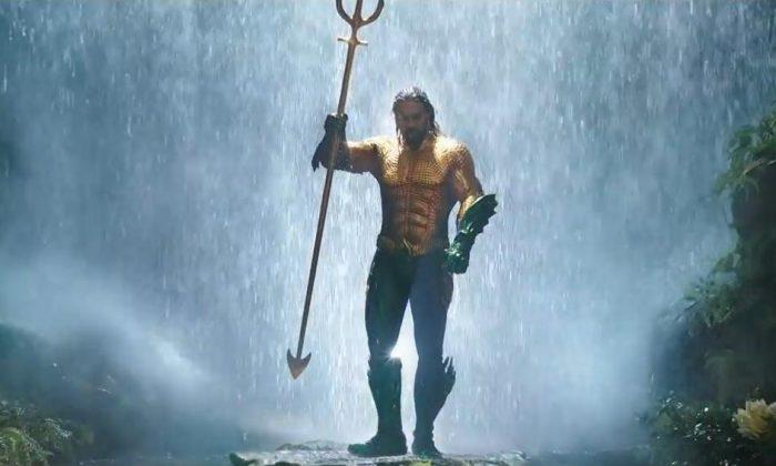 "Jason Momoa's portrayal as the titular figure in ""Aquaman."" (DC Comics)"