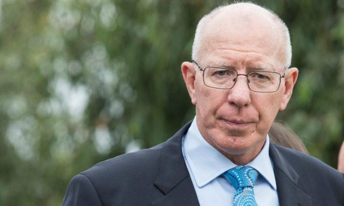 NSW Governor, David Hurley attends the Wugulora Ceremony at Barangaroo on January 26, 2018 in Sydney, Australia. (Cole Bennetts/Getty Images)
