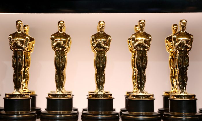 "The best-picture Oscar for ""Gentleman's Agreement,"" the 1947 film starring Gregory Peck that took on anti-Semitism, sold for $492,000, in a rare auction of Oscars that ended on Dec. 14, 2018, in Los Angeles. (Lou Bustamante/Profiles in History via AP)"
