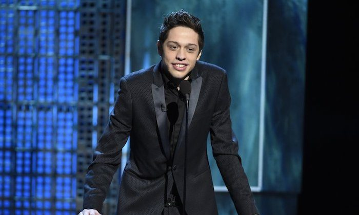 Pete Davidson speaks at a Comedy Central Roast at Sony Pictures Studios in Culver City, Calif., on March 14, 2015. (Chris Pizzello/Invision/AP)