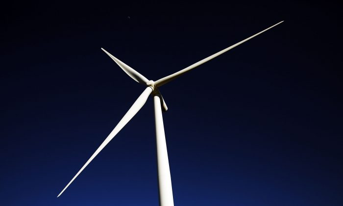 A wind turbine at a wind farm in Taft, Texas. Renewable energy sources contribute to electricity production in the United States, but unless you live next to the wind or solar farm, the actual power you use is likely to have been generated by coal, gas, or nuclear power plants. (Spencer Platt/Getty Images)