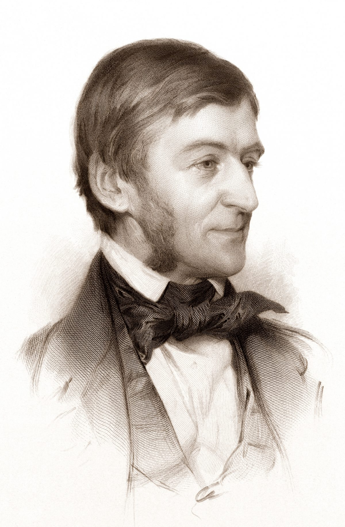 portrait of Ralph Waldo Emerson 1878