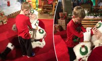 Mom Whispers to Santa That Son Is 'Blind and Autistic,' and His Response Is Amazing