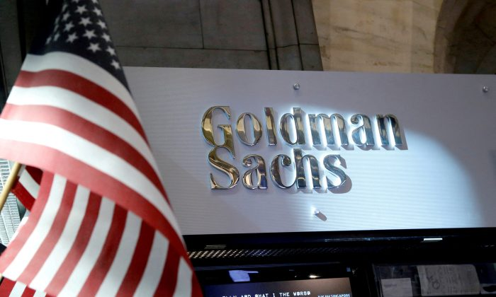 A view of the Goldman Sachs stall on the floor of the New York Stock Exchange in New York, U.S. on July 16, 2013. (Brendan McDermid/Reuters)