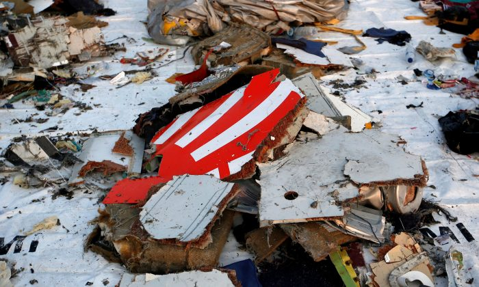 Wreckage recovered from Lion Air flight JT610, that crashed into the sea, lies at Tanjung Priok port in Jakarta, Indonesia, on Oct. 29, 2018. (Willy Kurniawan/File Photo/Reuters)