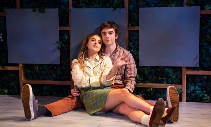 "Aoife Kelly and Phil Gillen in Irish Repertory Theatre's ""Two by Friel."" (Jeremy Daniel)"