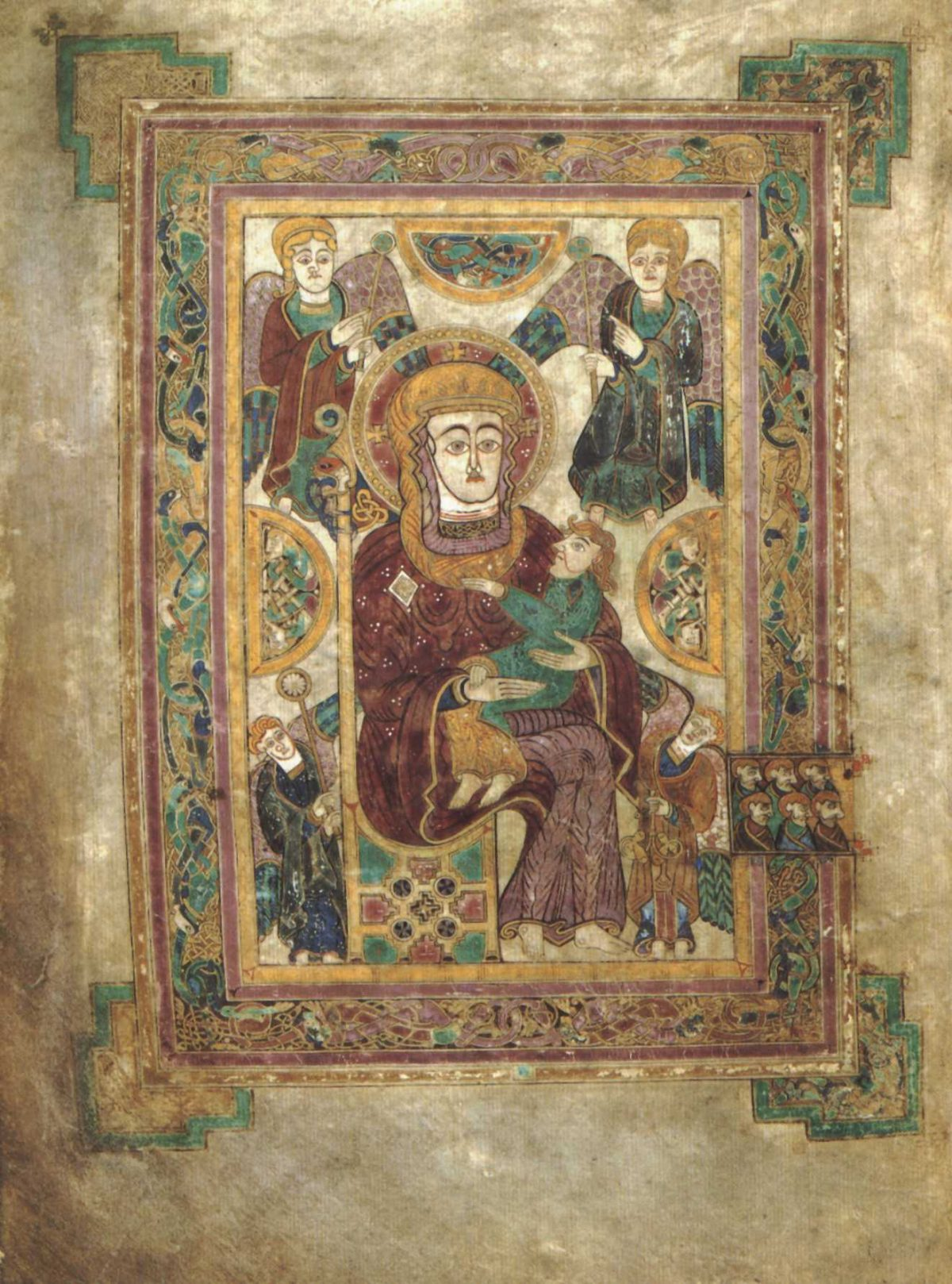 earliest Madonna and child - 800 AD