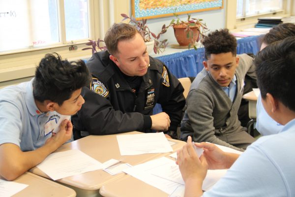 An officer with mentees