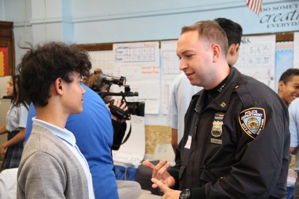 An officer with a mentee