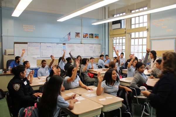 mentees in a classroom