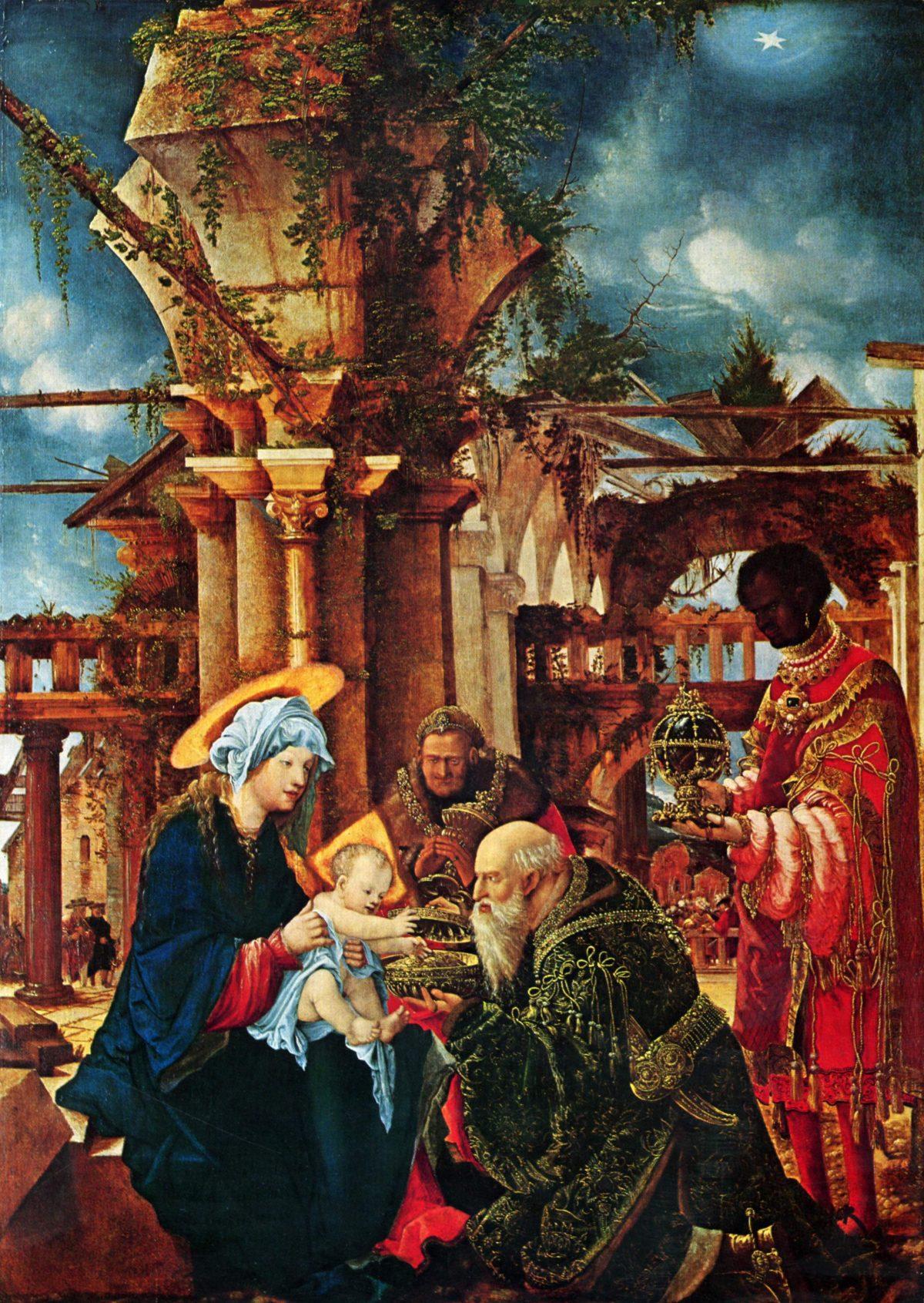 Adoration of the Magi, circa 1530, Albrecht Altdorfer