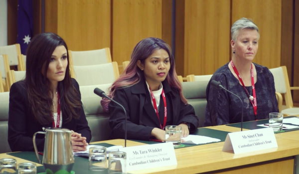 Cambodia Children's trust at the Australia parliamentary inquiry