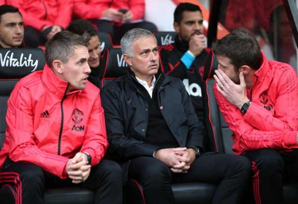 Jose Mourinho looks on at a match