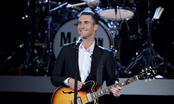 Recording artist Adam Levine of Maroon 5  performs onstage during the Grammys in Los Angeles, on Jan. 27, 2014. (Kevin Winter/Getty Images)