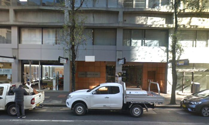 Street view of the Labor Council Building in Sydney's Sussex St. (Google Maps/Screenshot)