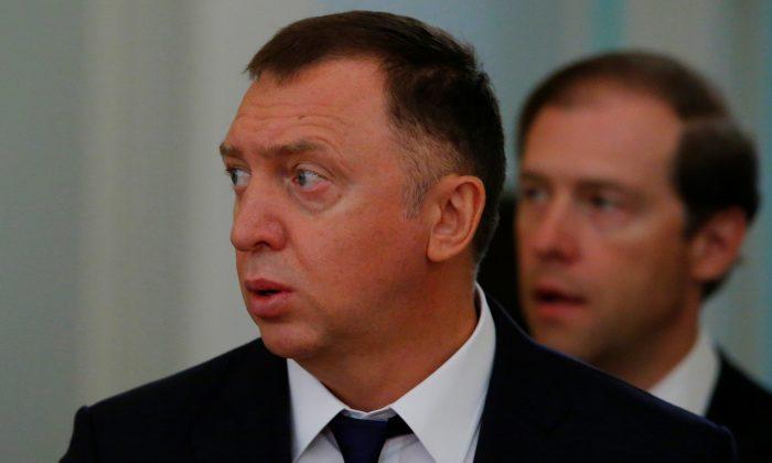 Russian aluminum tycoon Oleg Deripaska in Moscow, Russia, on June 22, 2018. (Reuters/Sergei Karpukhin)