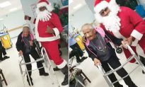 Santa dances with 90-year-old at senior's home, who grooves like a 'young woman' again