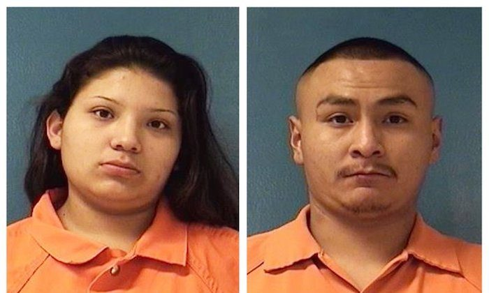 This combination of  Dec. 8, 2018 booking photos providing by McKinley County Adult Detention Center shows Shayanne Nelson (L) and Tyrell Bitsilly (R). (McKinley County Adult Detention Center via AP)