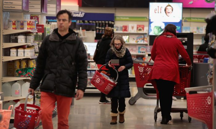 Customers shop at a Target store on Dec. 13, 2017 in Chicago, Ill. (Scott Olson/Getty Images)