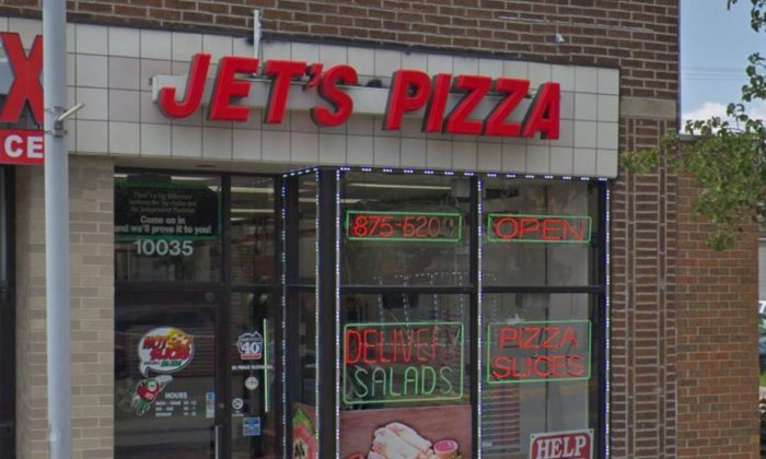 """A pizza restaurant in Michigan is under fire after a customer allegedly received a receipt with the words """"Trash, White"""" in reference to the derogatory term, """"white trash."""" (Google Street View)"""