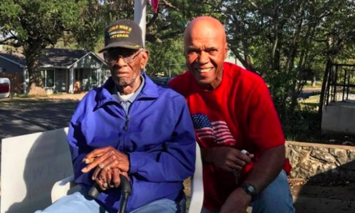 Richard and Volma Overton, Jr. at his home on Veterans Day 2016. (Richard Overton - 24/7 homecare/GoFundMe)
