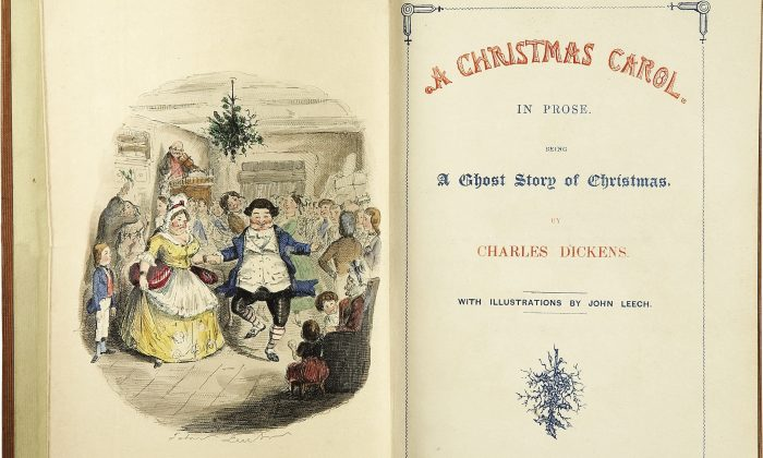 "The title page of the first edition of ""A Christmas Carol."" (Public Domain)"