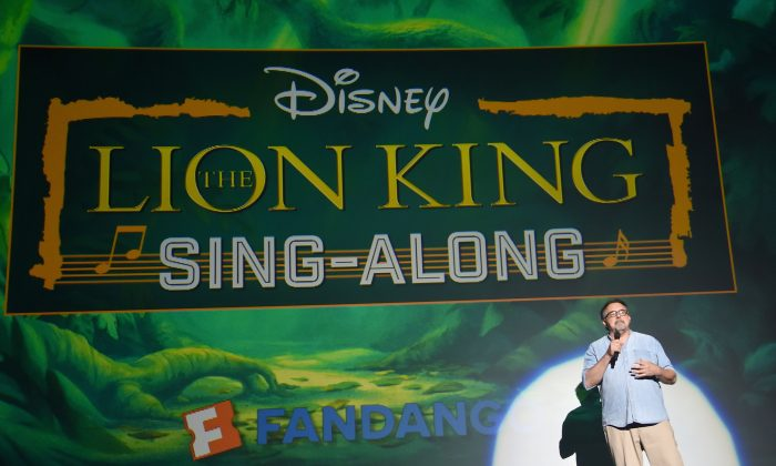 Producer Don Hahn at The Lion King Sing-Along at The Greek Theatre in Los Angeles in celebration of the in-home release, hosted by Walt Disney Studios and Fandango in Los Angeles, Calif., on Aug. 5, 2017. (Alberto E. Rodriguez/Getty Images for Disney)