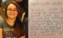 Little girl doesn't want any Christmas gifts, but she does have an unusual question for Santa