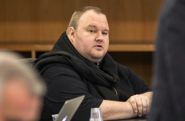 German tech entrepreneur Kim Dotcom sits in a chair during a court hearing in Auckland, New Zealand, Sept. 24, 2015. (Nigel Marple/File Photo/Reuters)