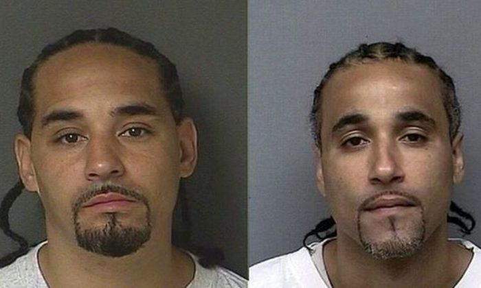 Richard Anthony Jones (pictured right) and the lookalike image that overturned his conviction (left). (Kansas City Police Department)
