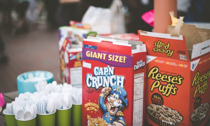 A bowl of sugar cereal marketed at children has as much sugar as a candy bar. (Gades Photography/Unsplash)