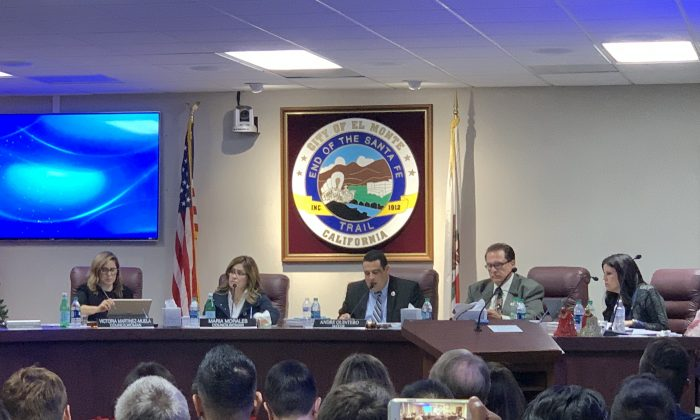 The El Monte City Council voted 4 to 1 to approve a proposal to build a cannabis facility in the city on Dec. 19, 2018. (Jenny Liu/The Epoch Times)
