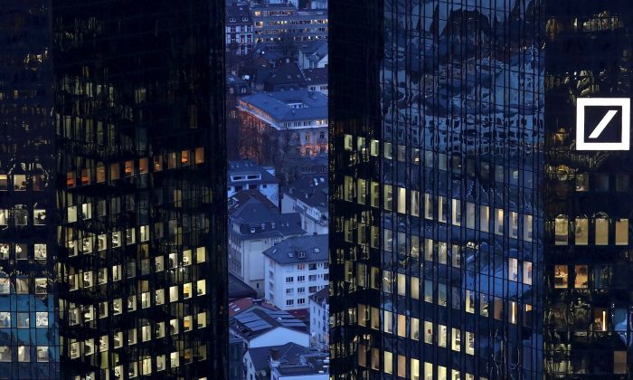 The headquarters of Deutsche Bank in Frankfurt, Germany, on Jan. 31, 2017. (Reuters/Kai Pfaffenbach/File Photo)