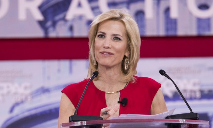 Laura Ingraham speaks at the CPAC 2018 in National Harbor, Md., on Feb. 23, 2018. The American Conservative Union hosted its annual Conservative Political Action Conference to discuss conservative agenda. (Samira Bouaou/The Epoch Times)