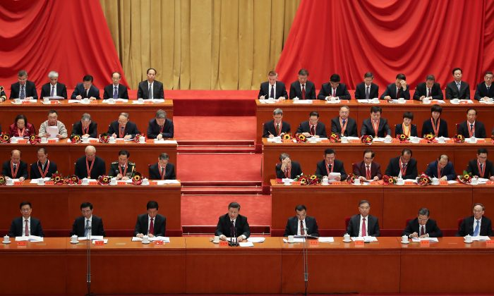 Chinese leader Xi Jinping gives a speech for the 40th Anniversary of Reform and Opening Up at The Great Hall Of The People in Beijing on Dec. 18, 2018. (Andrea Verdelli/Getty Images)