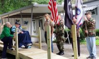 Family of 98-year-old WWII veteran holds a surprise 'guard of honor' for his birthday