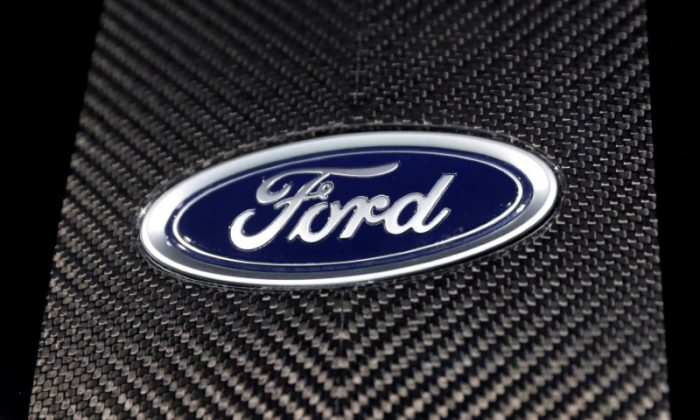 The Ford logo at the New York Auto Show in the Manhattan borough of New York City, New York, on March 29, 2018. (Shannon Stapleton/File Photo/Reuters)