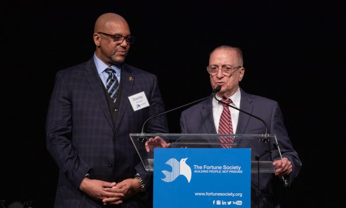 Stanley Richards (L) at The Fortune Society Gala 2018. (Courtesy of The Fortune Society)