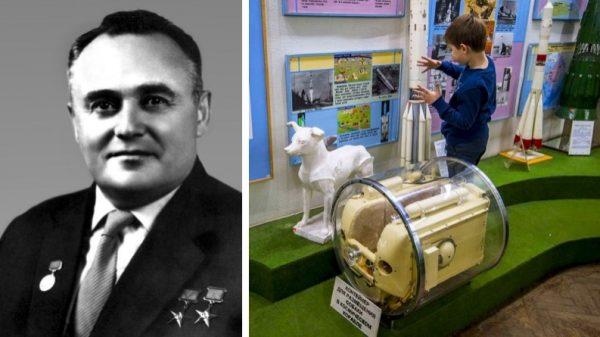 Korolev and Laika space dog