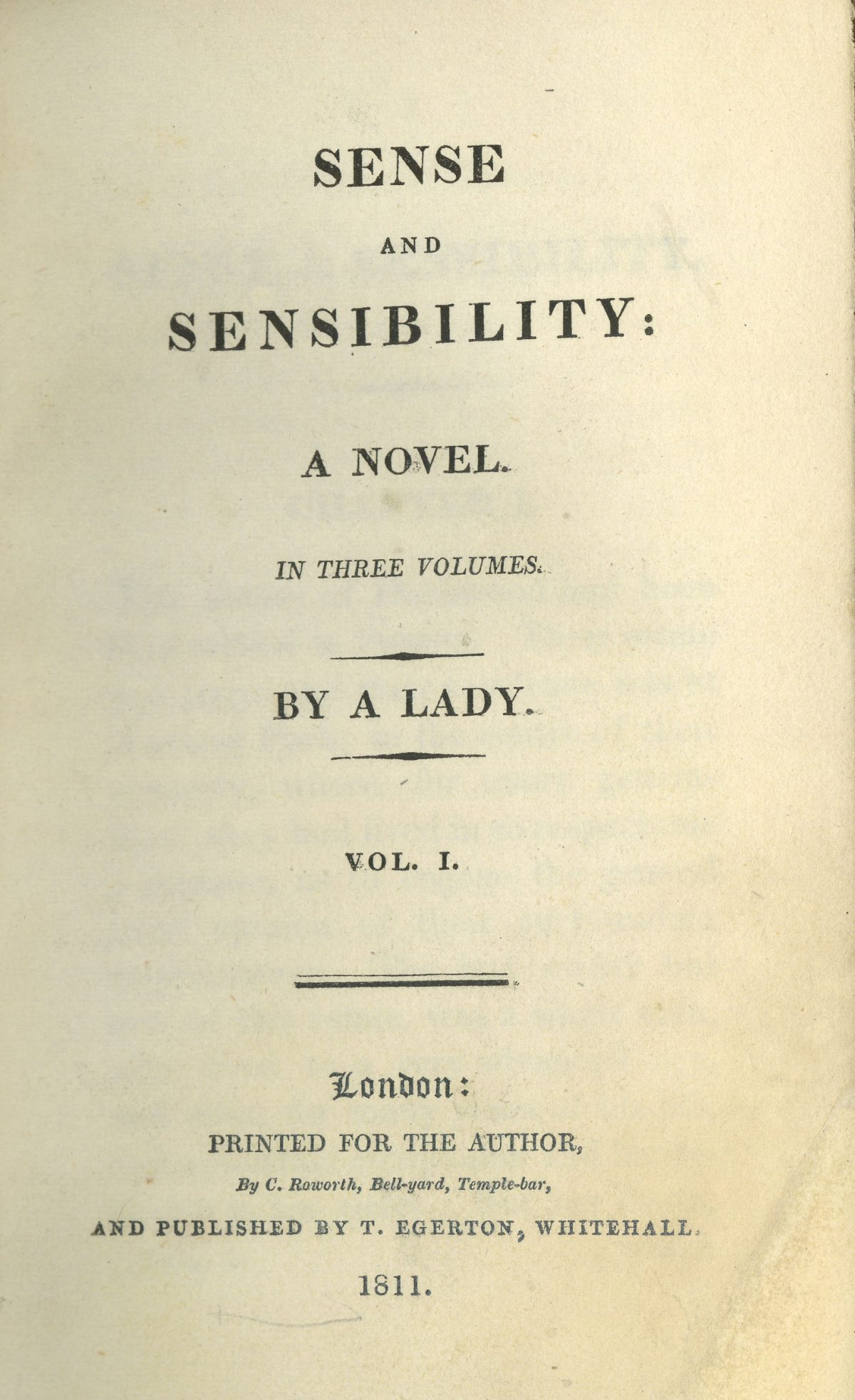 Title page Sense and Sensibility Jane Austen