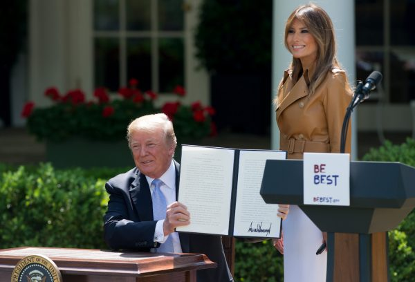 Trump and Melania Be Best event.